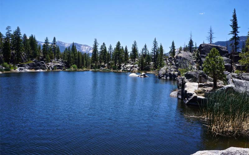 Doris Lake in Mono Hot Springs, California