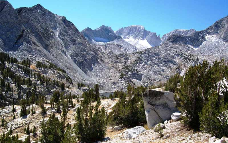 California High Sierra Wilderness in Mono Hot Springs, California