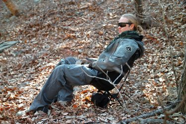 Get your portable chair and relax in the woods.