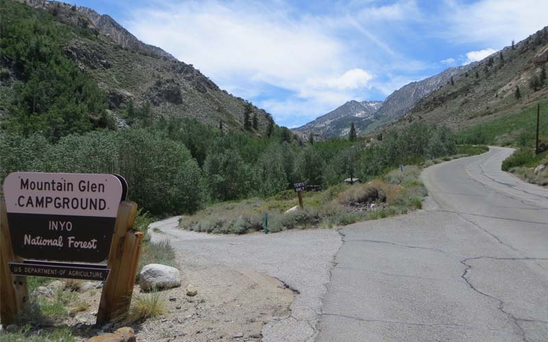 Pine Glen Group Campground in Mammoth Lakes, California