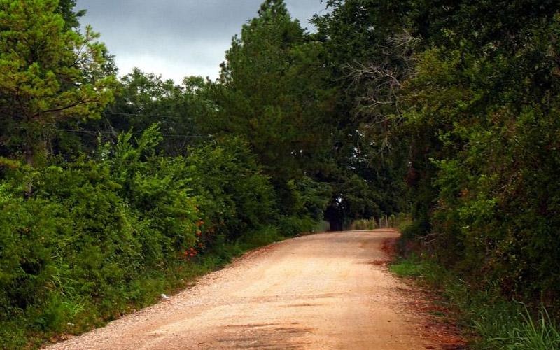Bowden Road in Huntsville, Texas
