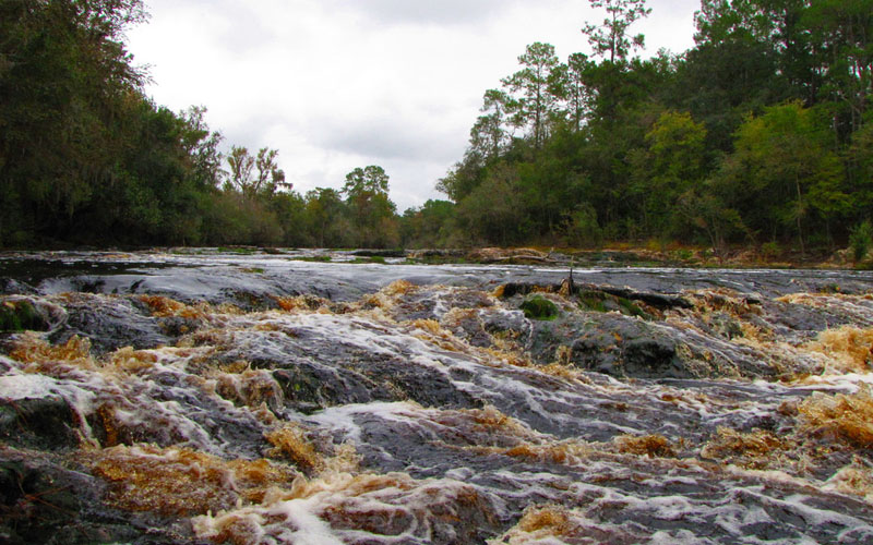 Big Shoals State Park in White Springs, Florida