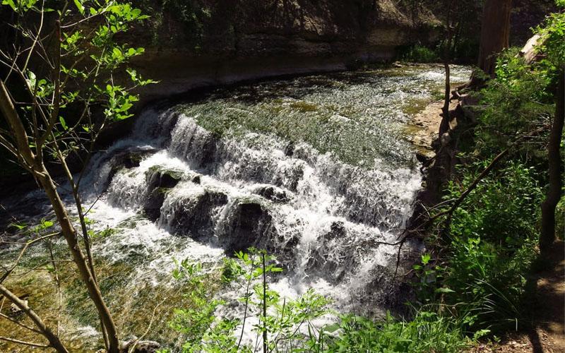 Chalk Ridge Falls Park in Belton, Texas