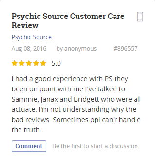 Psychic Source User Review and Rating 2