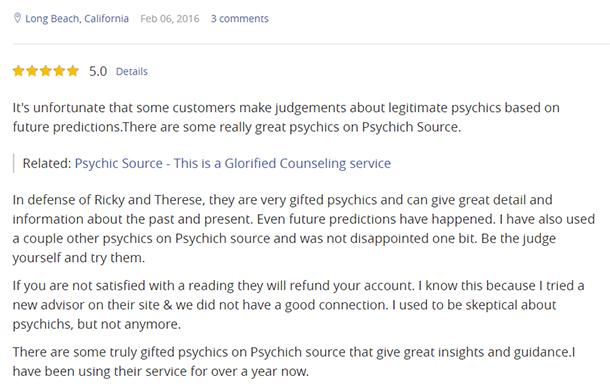 Psychic Source User Review and Rating 3