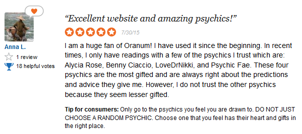 Oranum User Reviews and Ratings 3